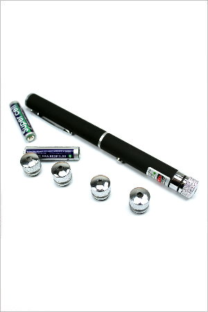 50mW Green Laser Pointer Pen 532nm with 5 Different Style Caps